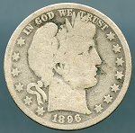1896 O Barber Half Dollar About Good