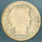 1896 S Barber Half Dollar Poor