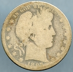 1897 O  Barber Half Dollar About Good