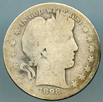 1898 O Barber Half Dollar About Good