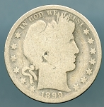 1899 Barber Half Dollar About Good