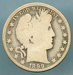 1899 O Barber Half Dollar About Good