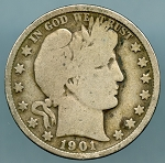 1901 Barber Half Dollar Good