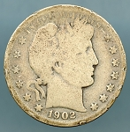1902 O Barber Half Dollar About Good