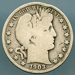 1903 Barber Half Dollar About Good