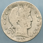 1903 S Barber Half Dollar Good