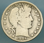 1904 O Barber Half Dollar Good Plus