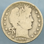 1904 O Barber Half Dollar Good +