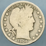 1906 O Barber Half Dollar About Good