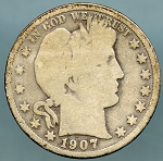 1907 D Barber Half Dollar Good