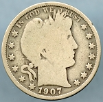 1907 O Barber Half Dollar Good