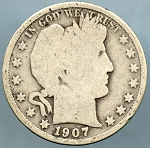 1907 S Barber Half Dollar Good