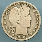 1908-D Barber Half Dollar Good