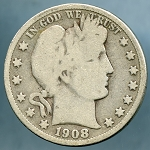 1908 O Barber Half Dollar Good