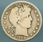1909 S Barber Half Dollar Good