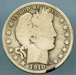 1910 Barber Half Dollar Good