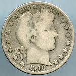 1910 Barber Half Dollar Good+