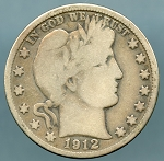 1912 D Barber Half Dollar Good