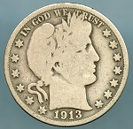 1913 Barber Half Dollar Good