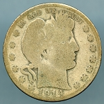 1914 S Barber Half Dollar About Good