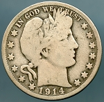 1914 S Barber Half Dollar Good