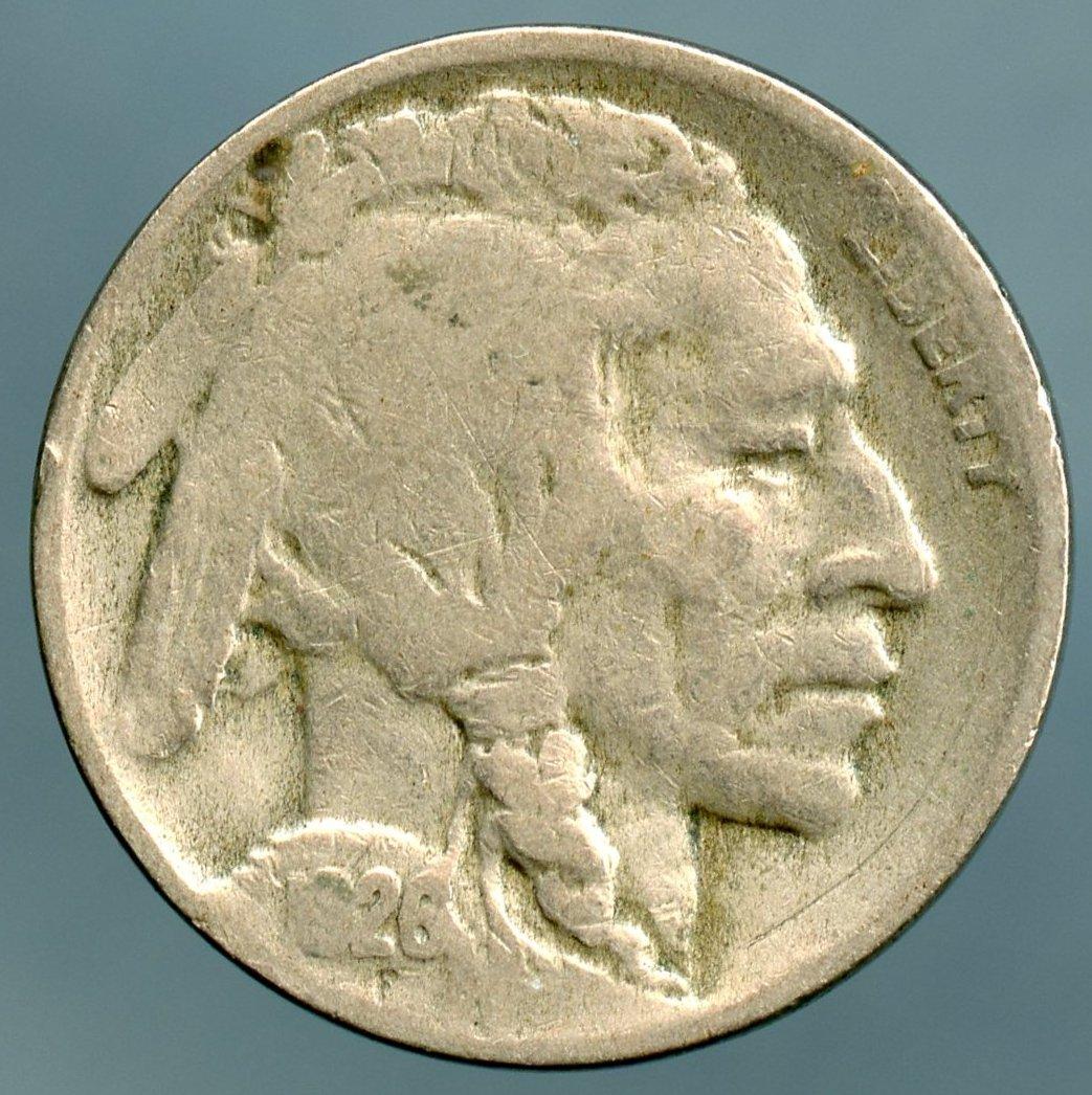 1926 D Buffalo Nickel Good