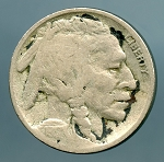 1917 D Buffalo Nickel VG details light corrosion obverse and reverse