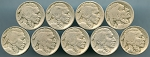 9 piece Buffalo Nickel lot. See details