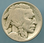 1923 Buffalo Nickel AG