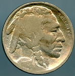 1913 S T2 Buffalo Nickel Very Good Cleaned and scratched