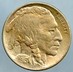 1913 T1 Buffalo Nickel B.U. MS-60 Spot on reverse