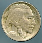 1913 TY 2 Buffalo Nickel Good