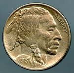 1913 Ty 2 Buffalo Nickel XF details cleaned