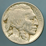 1914 Buffalo Nickel light discoloration obverse