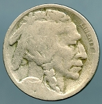 1917 S Buffalo Nickel Good
