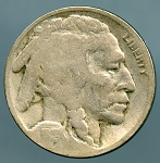 1918 S Buffalo Nickel Good