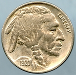 1920 Buffalo Nickel XF-40 - Cleaned