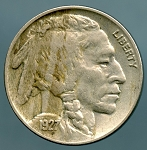 1927 Buffalo Nickel XF 40