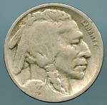 1927-S Buffalo Nickel Good