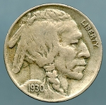1930-S Buffalo Nickel VF-35