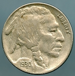 1930 S Buffalo Nickel XF-40