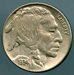 1934 Buffalo Nickel XF 45