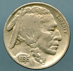 1936-D Buffalo Nickel VF 20/35