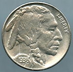 1936 S Buffalo Nickel MS-63