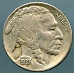 1937 S Buffalo Nickel XF 40