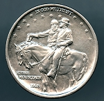 1925 Stone Mountain Half Dollar AU details cleaned
