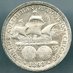 1892 Columbian Expo Half Dollar AU lightly cleaned