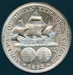 1892 Columbian Exposition Chicago Choice B.U. MS-63