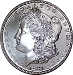 1881 S Morgan Dollar MS-64 DMPL