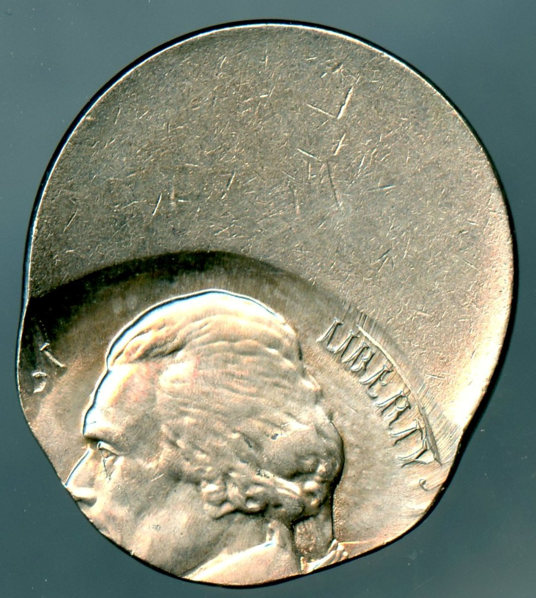 Jefferson Nickel No Date Off-Center 40% - Mint State